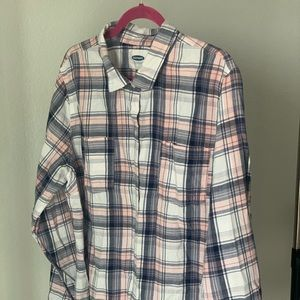 Pink & Blues Flannel Blouse